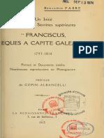 Fabre Benjamin - Un initié des sociétés secrètes supérieures Franciscus Esques a capite galeato.pdf