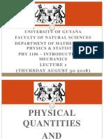 1 1.1 Physical Quantites Units