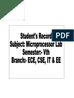 Microprocessor 8085 Manual