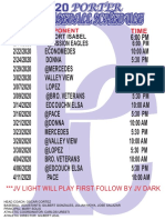 2020 jv baseball schedule