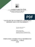 ANÁLISIS DE PAVIMENTO ASFÁLTICO