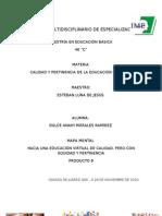 HACIA UNA EDUCACIÓN VIRTUAL DE CALIDAD, PERO CON EQUIDAD Y PERMANENCIA