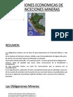 OBLIGACIONES ECONOMICAS DE LAS CONCECIONES MINERAS