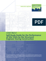 Case Guideline 962-E  Self-Study Guide for the Performance of Site Visits During Construction