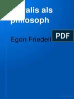 Fridell, Egon - Novalis als Philosoph