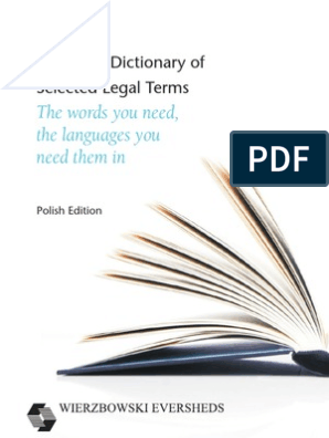 Polish Dictionary Of European Legal Terms Service