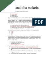 Soal matakulia malaria