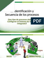IDENTIFICACION Y SECUENCIA DE PROCESOS I PARTE