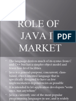Role of Java in Market Ppt