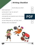 Diary Writing Checklist
