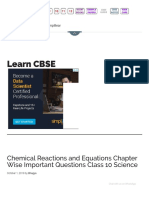 Chemical Reactions Equations Chapter-wise Important Questions Class 10 Science - LearnCBSE.in.pdf