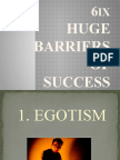 6 Barriers of Success