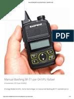 Manual Baofeng BF-T1 por EA1IPU Rafael – EA3HUJ Daniel