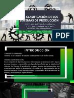 Clasificación de los sistemas de producción