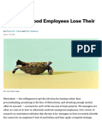 4 Reasons Good Employees Lose Their Motivation