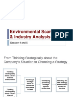 BS Session 4 and 5- Environmental Scanning & Industry Analysis