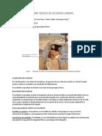INFORME TÉCNICO DE ACCIDENTE LABORAL