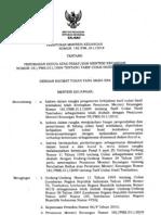 PMKno190 PMK.011 2010 Tariff Cukai Hasil Tembakau
