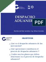 Despacho Aduanero e incidencias 12112018