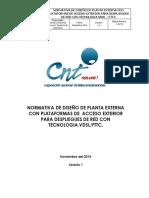 DISEÑO DE PLANTA EXTERNA CON PLaTAFORMAS DE  ACCESO