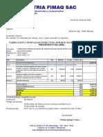 016-2018 SOPORTE DE TECHO ALMACEN  N°05 PISCO MPF