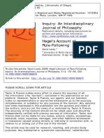 Landy - Hegel's Account of Rule-Following 2008