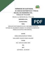 TESIS-COMPARATIVA COSTO BENEFICIO AISLADOR vs DISIPADOR EN EDIFICIO DE 8 NIVELS