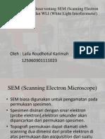 SEM (Scanning Electron Microscope) dan WLI (White Light Interferometer)_revisi_Laila Roudhotul Karimah