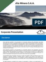 Presentacion Corporativa Volcan Mayo 2013