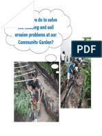 What Can We Do to Solve the Flooding and Soil Erosion Problems at Our Community Garden