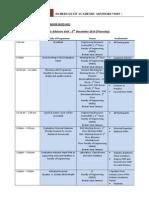 Schedule of Academic Advisors Visit