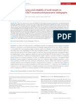 2014. Measurement accuracy and reliability of tooth length on
