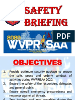 Safety Briefing - WVPRISAA 2020