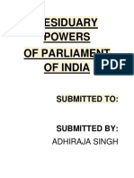 RESIDUARY POWERS OF PARLIAMENT OF INDIA.docx