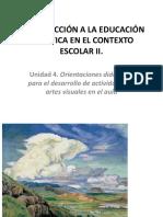 INTRODUCCIÓN A LA EDUCACIÓN ARTÍSTICA II ARTES VISUALES