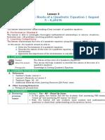 DLP Grade 9 Math Q1