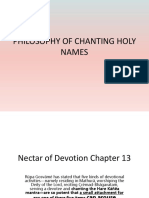 PHILOSOPHY OF CHANTING HOLY NAMES