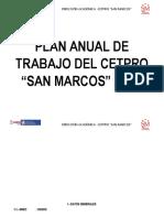 PLAN ANUAL DE TRABAJO DEL CETPRO