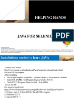 Java for Selenium
