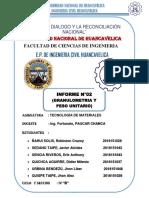 INFORME DE CUARTEO