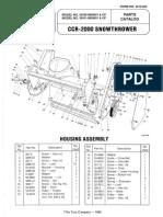 Toro 38180 Snowthrower Parts Catalog