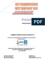 how to Present a Project Report