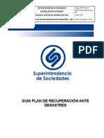 GINF-G-010 Guia Plan de Recuperacion ante Desastres DRP v6