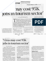Business Mirror, Feb. 13, 2020, Virus may cost 95K jobs in tourism sector.pdf