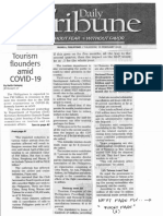 Daily Tribune, Feb. 13, 2020, Tourism flounders amid COVID - 19.pdf