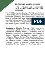 LESSON MANUSCRIPT Personnel Police and Procedure(2)