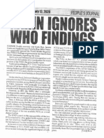 Peoples Journal, Feb. 13, 2020, Garin ignores who findings.pdf