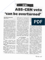 Philippine Daily Inquirer, Feb. 13, 2020, Du30 ABS_CBN veto can be overturned.pdf