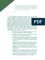 INSTRUMENTOS PARA EVALUAR LAS INTELIGENCIAS MÚLTIPLES DEL ALUMNADO DE ALTAS CAPACIDADES