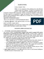 Fundamental and Technical Analysis Of__dabur India